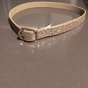 NWT Express gold glitter belt